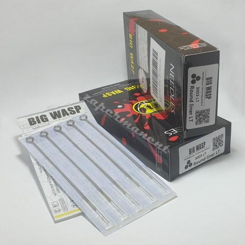 BIG WASP ПРЕМИУМ тату иглы 3003RL (упаковка 50 шт).